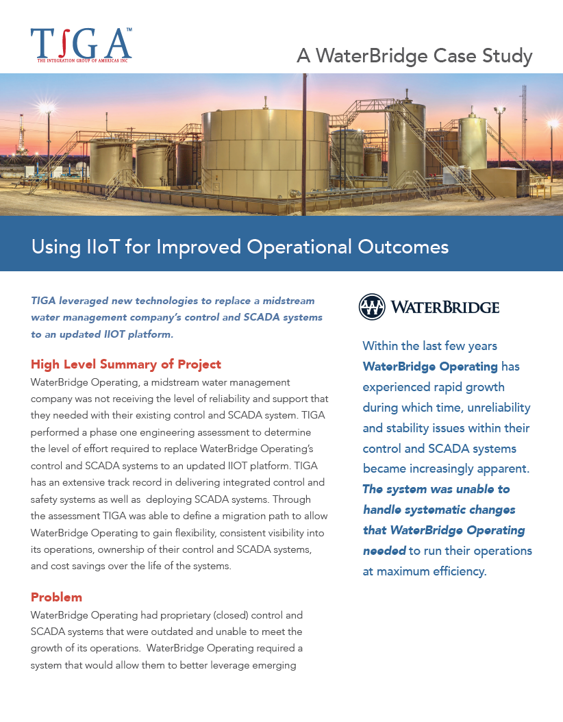 Using IIOT for Improved Operational Outcomes | TIGA
